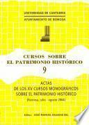 Actas de los XV Cursos Monográficos sobre el Patrimonio Histórico