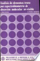 Análisis de elementos-traza por espectrofotometría de absorción molecular ultravioleta-visible