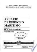 Anuario de derecho maritimo