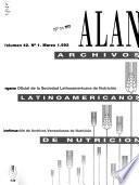 Archivos venezolanos de nutrición