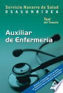 Auxiliares de Enfermeria Del Servicio Navarro de Salud-osasunbidea. Test Del Temario Ebook