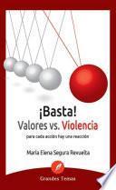 ¡Basta! Valores vs violencia!