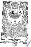 Biblia en lengua Espanola traduzida palabra por palabra de la verdad Hebrayca por muy excelentes letrados vista y examinada por el officio de la Inquisicion
