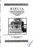 Biblia en lengua Espanola traduzida palabra por palabra dela verdad Hebrayca (etc.)