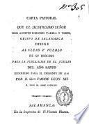 Carta pastoral que el ilustrisimo señor Don Agustín Lorenzo Varela y Temes, Obispo de Salamanca dirige al clero y pueblo de su diócesis para la publicacionde el jubileo del año santo