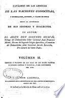 Catálogo de las lenguas de las naciones conocidas: Lenguas y naciones de las islas de los mares Pacifico é Indiano austral y oriental, y del continente del Asia