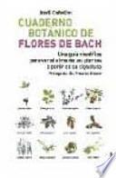 Cuaderno botánico de las flores de Bach