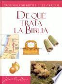 De que trata la Biblia