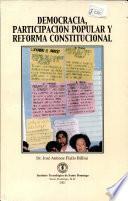 Democracia, participación popular y reforma constitucional