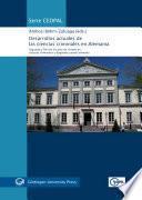 Desarrollos actuales de las ciencias criminales en Alemania