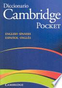 Diccionario Bilingue Cambridge Spanish-English Paperback Pocket Edition