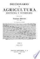 Diccionario de agricultura, zootecnia y veterinaria