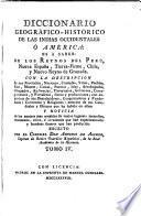 Diccionario Geografico-Historico de las Indias Occidentales o America