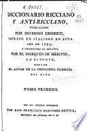 Diccionario Ricciano y anti-ricciano