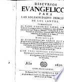Discursos euangelicos para las solemnidades principales de los santos