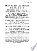 Don Juan de Espina en Madrid