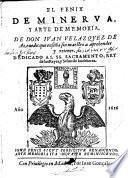 El Fenix de Minerva, y arte de memoria etc