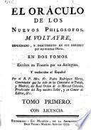 El oráculo de los nuevos Philosofos