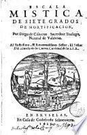 Escala mística de siete grados de mortificación