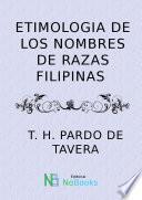 Etimologia de los nombres de razas de Filipinas