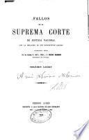 Fallos de la Corte Suprema de Justicia nacional