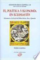 Fe, política y economía en Eclesiastés