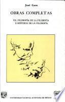 Filosofía de la filosofía e historia de la filosofía