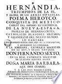 Hernandia, Triumphos de la fe y gloria de las armas españolas