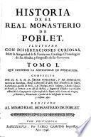 Historia de el monasterio de Problet