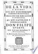 Historia de la vida y hechos del rey don Henrique III de Castilla