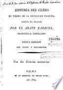 Historia del clero en tiempo de la Revolucion Francesa