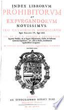 Index librorum prohibitorum et expurgandorum novissimus