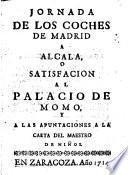 Jornada de los coches de Madrid a Alcalá o satisfacción al Palacio de Momo y las apuntaciones a la carta del Maestro de Niños