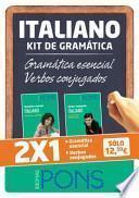 Kit de gramática ITALIANO. Gramática esencial + Verbos conjugados