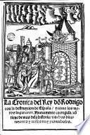 La Cronica del rey do[n] Rodrigo