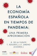 La economía española en tiempos de pandemia