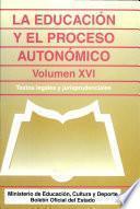 La Educación y el proceso autonómico