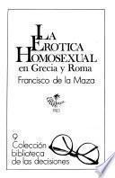 La erótica homosexual en Grecia y Roma