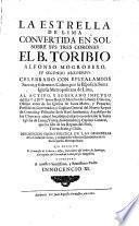 La estrella de Lima convertida en sol sobre svs tres coronas el B. Toribio Alfonso Mogrobexo