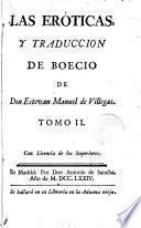 Las Eróticas y traducción de Boecio