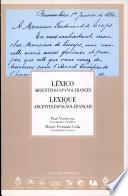 Léxico argentino-español-francés