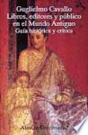 Libros, editores y público en el mundo antiguo