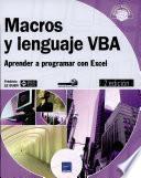 Macros y lenguaje VBA