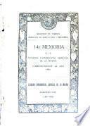 Memoria de la Estación experimental agricola de La Molina