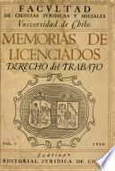 Memoria de Licenciados Derechos del trabajo