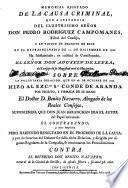 Memorial ajustado de la causa criminal... contra el Dr.D.Benito Navarro