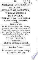 Memorias Academicas de la Real Sociedad de Medicina y demas ciencias de Sevilla