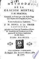 Methodo de la oracion mental y su practica