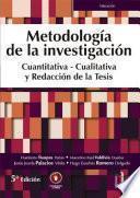 Metodología de la Investigación cuantitativa-cualitativa y redacción de la tesis