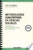 Metodologías cualitativas en ciencias sociales